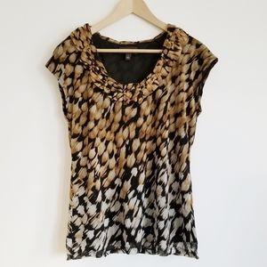 Dana Buchman sleeveless animal print blouse